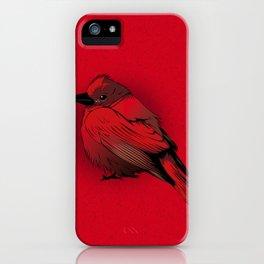 Little Red Bird iPhone Case