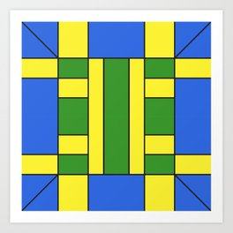 They were all yellow... blue and green Art Print