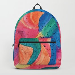 Facing Colors: Abstract Rainbow Painting Backpack