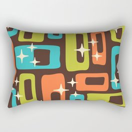 Retro Mid Century Modern Abstract Pattern 632 Rectangular Pillow