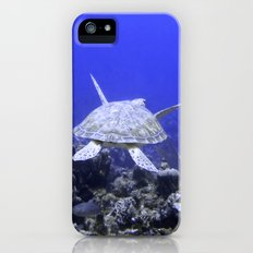 Green Turtle Swimming Slim Case iPhone (5, 5s)