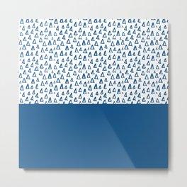 Triangles Blue Metal Print