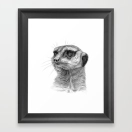 Meerkat-portrait G035 Framed Art Print