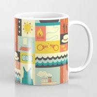 finn Mugs featuring Huckleberry Finn by Ariel Wilson