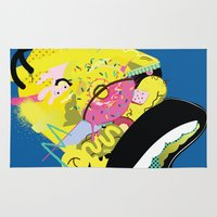 homer Area & Throw Rugs featuring Homer 1. by Huxley Chin