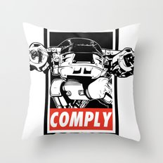 OBEY ED-209 Throw Pillow