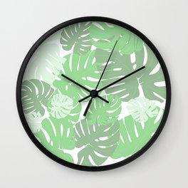 MONSTERA DELICIOSA SWISS CHEESE PLANT Wall Clock