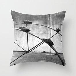 Detail of Paladino's The Sound of Night Throw Pillow
