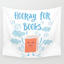 Hooray For Books Wall Tapestry
