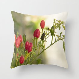 hot chili peppers II Throw Pillow