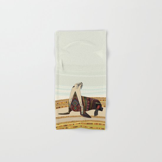 sea lion Hand & Bath Towel