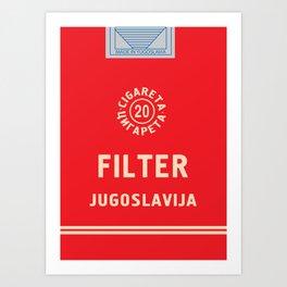 Glory to Yugoslavian design Art Print