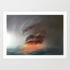 Hot Tower Art Print