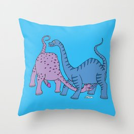 Before Time Began I (Blue) Throw Pillow