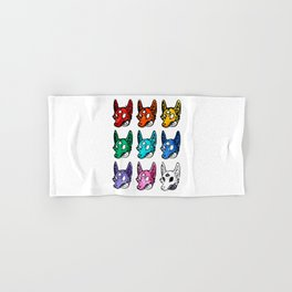 Candy Colored Space Coyotes Hand & Bath Towel