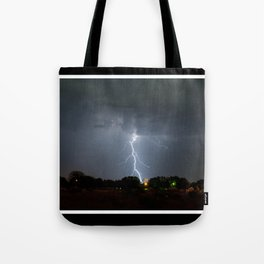 Lightning in Lovington New Mexico Tote Bag