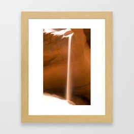 slot canyon Framed Art Print