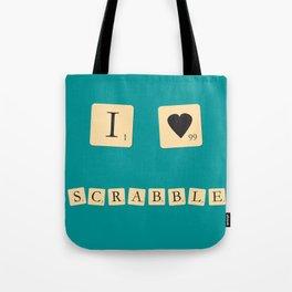 I heart Scrabble Tote Bag