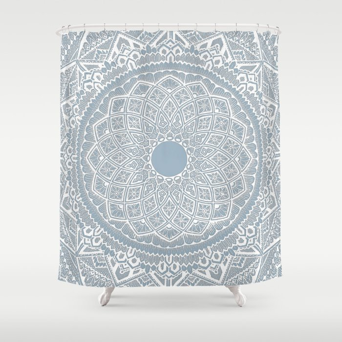Dalton Gray Blue Shower Curtain, Shower Curtains Gray And Blue