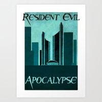 resident evil Art Prints featuring Resident Evil Apocalypse by JackEmmett
