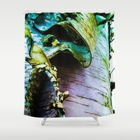 birch Shower Curtains featuring birch by Jeni Decker