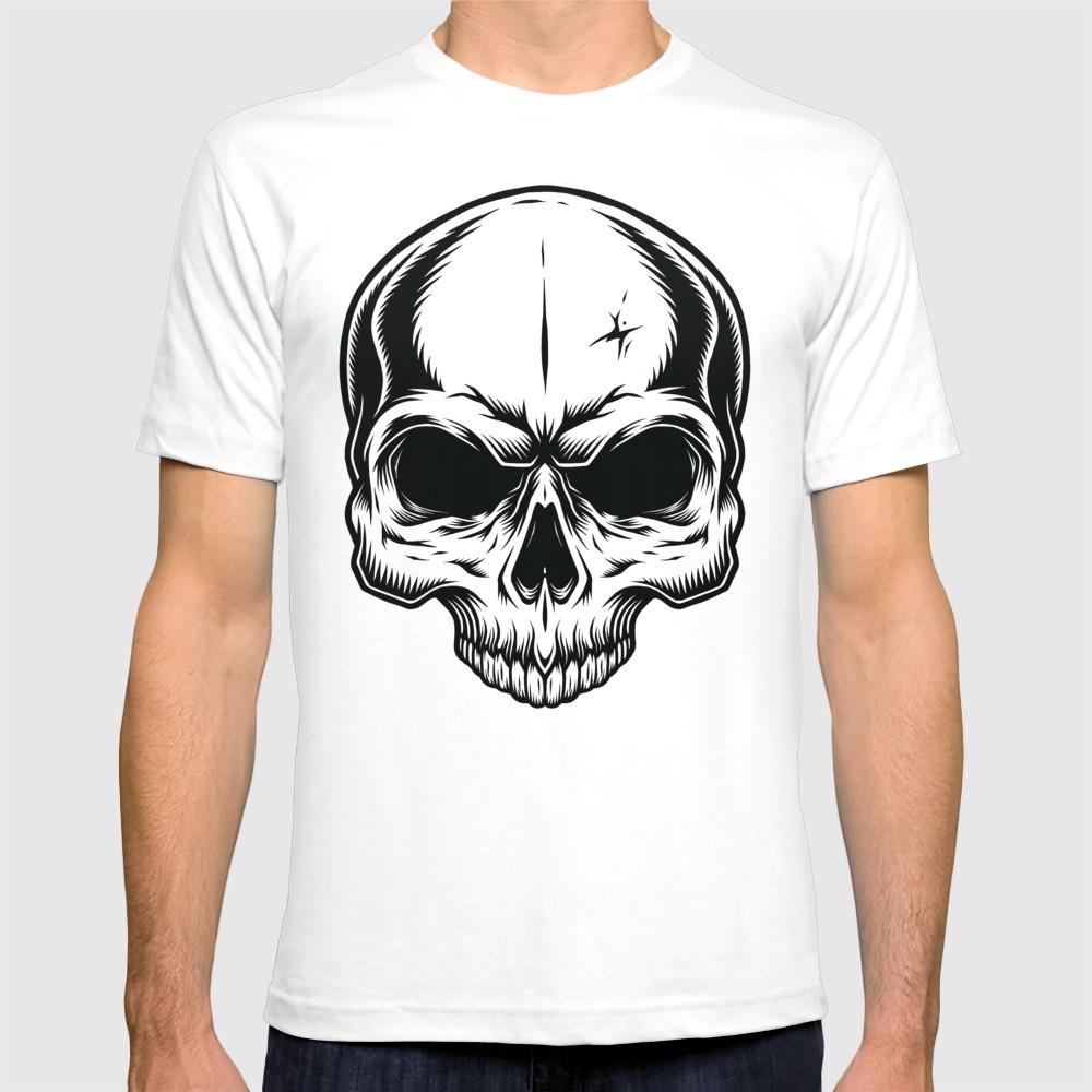 Biker Motorcycle Skull T-shirt by Ink-addict TSR7831853
