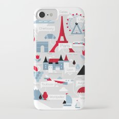 France Map iPhone 7 Slim Case