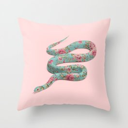 FLORAL SNAKE Throw Pillow