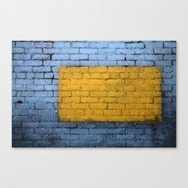 Colorful Brick Wall Canvas Print