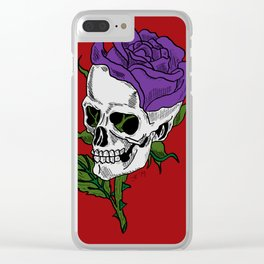 Darkness In Bloom Clear iPhone Case