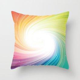 Rainbow background Throw Pillow