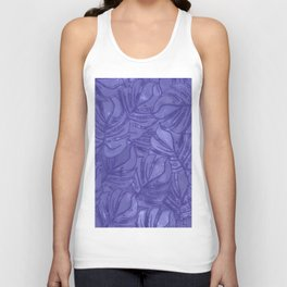 Monstera leaves - Ultra Violet and Lilac Unisex Tank Top