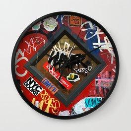 New York City Door Graffiti Wall Clock