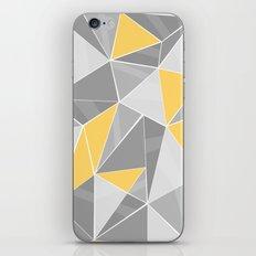 Pattern, grey - yellow iPhone Skin