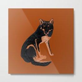 Black dingo (c) 2017 Metal Print