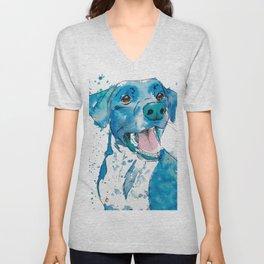 Happy Blue Labrador Retriever Unisex V-Neck