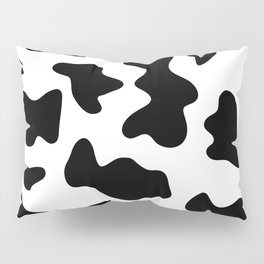 black and white ranch farm animal cowhide western country cow print Pillow Sham