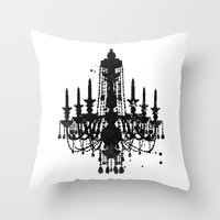 chandelier Throw Pillows featuring Chandelier by Steven Womack