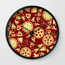 Pizzas Wall Clock