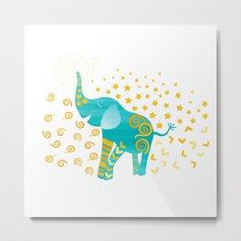 Lucky Elephant – Magic Villa Metal Print