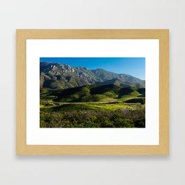 Boney Mountain,CA. Framed Art Print
