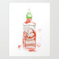 sriracha Art Prints featuring Sexy Hot - Sriracha by All Day Dreaming