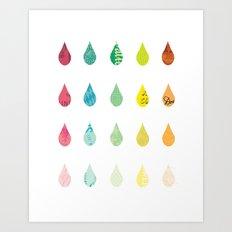 The Color of Rain Art Print