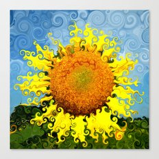Sunflowers in Suessland Canvas Print
