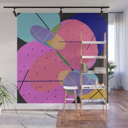Random Thoughts I - Abstract, minimalist, scandinavian pop art Wall Mural