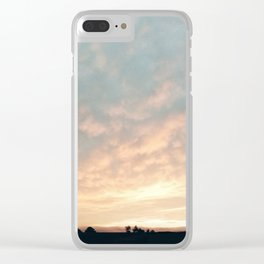 Sunset in Derbyshire Clear iPhone Case