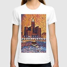 Saudi Arabia Mecca Artistic Illustration Closed Environment Style T-shirt