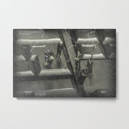 The Curious Case Of Mr Keyboard Metal Print
