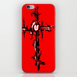 CROSS IN RED iPhone Skin