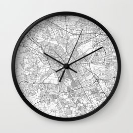 Hanover Map Line Wall Clock